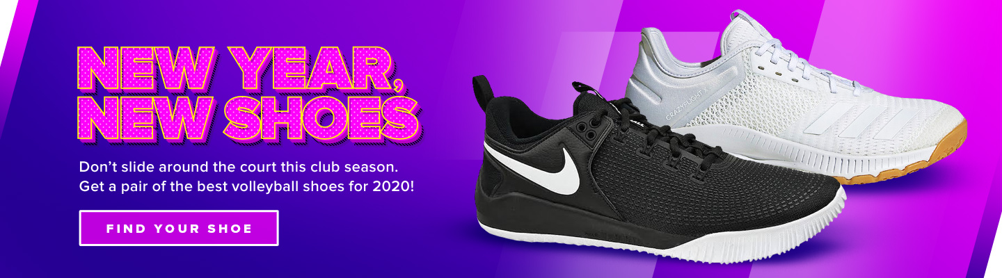New Year, New Shoes. Don't slide around the court this club season. Get a pair of the best volleyball shoes for 2020!